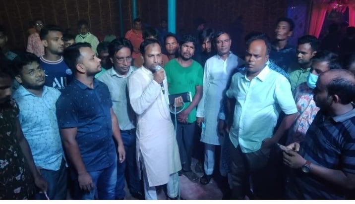 নলুয়ায় শারদীয় শুভেচ্ছা বিনিময়ে চেয়ারম্যান পদপ্রার্থী মিজানুর রহমান চৌধুরী